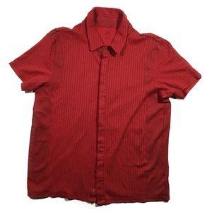 Armani Exchange red polo shirt